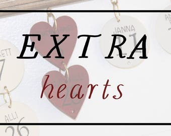 Extra Hearts for Celebration Sign