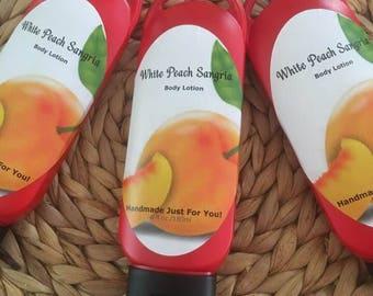 White Peach Sangria Body Lotion,Sangria Lotion,Peach Body Lotion,Fruity Lotion
