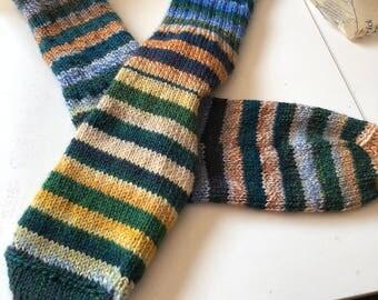 Hand-knitted wool socks