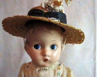"Rare 1933 Effanbee ""Patsyette"" 9"" Composition Doll"