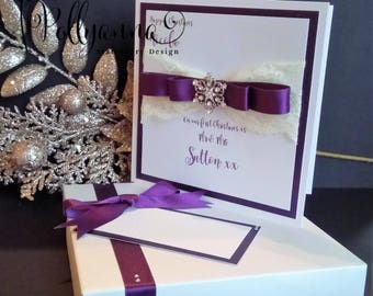 Bespoke Personalised Luxury Embellished First Christmas as Mr & Mrs Christmas - Any Colours