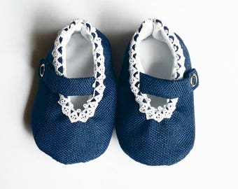 Blue Lace Mary Janes