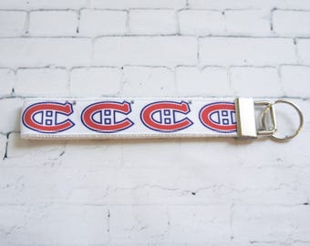 Canadiens, Hockey key chain, Hockey Key FOB, Canadien of Montreal, NHL keychain, man gift, hockey fan gift, teenager gift