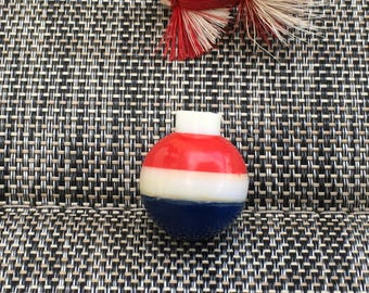 Small Red White & Blue Vintage Fishing Bobber Float