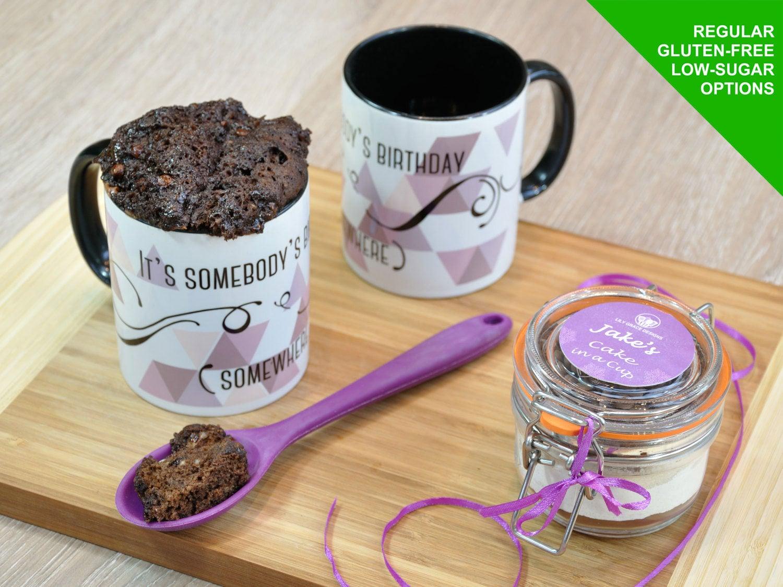 Mug cake kit, baking kit, gift for him, gift for her, sweet treat ...