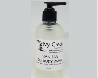 Vanilla Gel Body Wash, Fall Gel Body Wash, Natural Soap, Fall Soap, Vanilla, Holistic, Natural Body Wash, Gifts for Her, Gifts for Mom