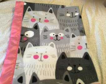 Handmade fleece pet blanket, cats
