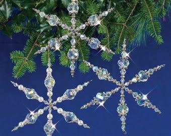 Vintage Snowflakes Beaded Christmas Ornament Kit (VINSNOW)