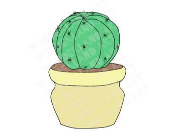 Cactus large clipart/ printable sticker