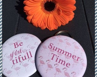 Set mirror and bottle opener Summer Time and... Be you tifull