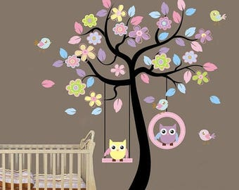 Limited Time Sale Kids Wall Decal, Tree Birds Wall Decal, Kids Room Wall  Decal