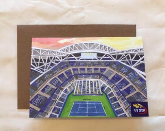 US Open tennis Greeting card