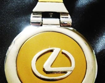 Lexus 18K Gold Keychain with Silver Trim-Free Engraving