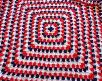 Crochet America Baby Blanket (Granny Square - Vanna White Yarn)