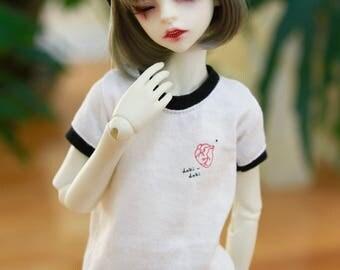 BJD 1/4 MSD Doki Doki Organ Ringer T Shirt - White