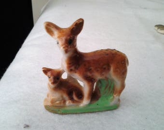 1950s Vintage Deer with Fawn Figurine