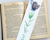 Butterfly Bookmark, Pink and Purple Watercolor Butterfly Art, 2 x 8 Inch Bookmark, Nature Book Mark, Unique Gifts, Gift for Her, Reader Gift