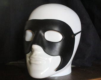 (choice of color) plain leather mask