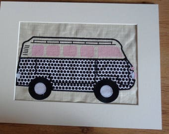 Camper Van Applique Picture