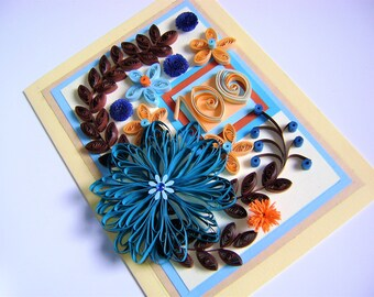 Paper quilling cards,Paper quilling,Greeting cards,Quilling greeting cards,Quilling birthday cards,100thbirthday cards,Quilling designs,Gift