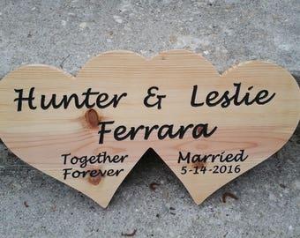 Heart Sign,Together For Ever Sign,Wedding Sign