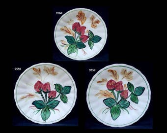 "Blue Ridge Jubilee Fruits STRAWBERRY PATCH 6"" Pottery Saucer (Buy 1,2,3) Southern Potteries Dinnerware (B33) 7558 7559 7560"