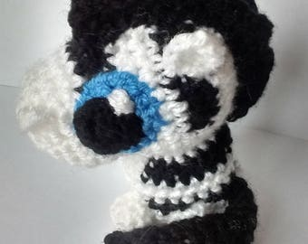 Cute Big eyed zebra (crocheted)