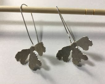Sterling Silver Leaf Earring