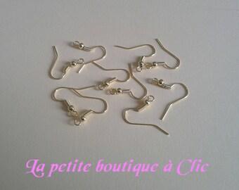 Set of 10 blank Gold hook earrings