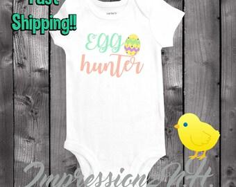 Egg hunter baby onesie - Easter onesie- Easter egg hunt- funny onesie, funny baby onesie