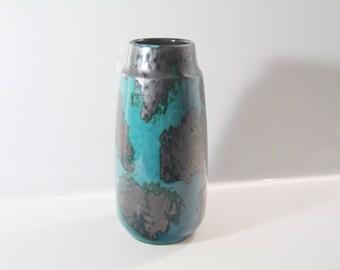 Impressive Scheurich 203-26  vase, West German Pottery, Fat Lava, WGP
