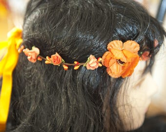 Crown headband with flowers and berries