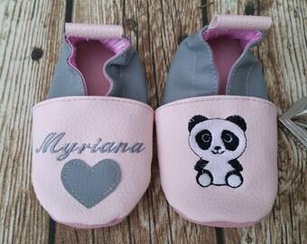 panda soft slippers for girls or boys