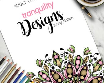 Adult Colouring Book Tranquility Designs