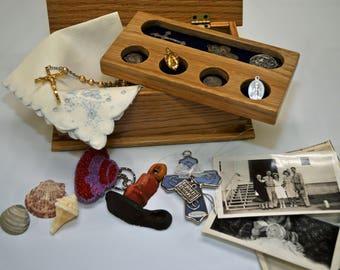 Solid Oak Memory or Jewelry Box