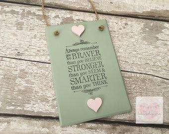 Inspirational Quote Plaque