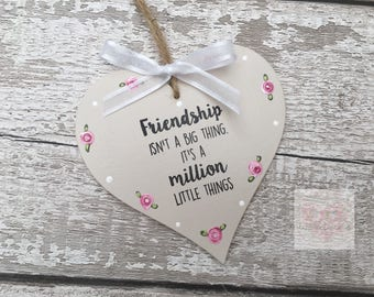 Mother Quote Heart Plaque, 12.5cm