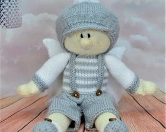 Boy Fairy Knitting Pattern, Fairy Knitting Pattern, Knitted Doll, Dolly Knit Pattern, Soft Toy Knitting Pattern, Baby Shower Gift