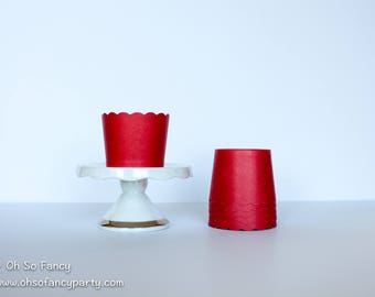 Red Treat Cups / Treat Cups / Baking Cups / Red Baking Cups / Red Treat Cups