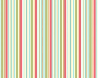 "My Mind's Eye for Riley Blake- ""Just Dreamy ""  Stripes Cotton  (1 1/3 yard)   Remnant"