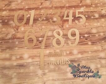 Baby milestone prop-milestone prop-monthly tracker-photography props-baby milestones-milestone numbers