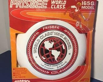 1980 WHAM-O VINTAGE FRISBEE sealed moc new old stock world class flying disc ifa toy wham o model 165 G world class 165g zimmerman horowitz