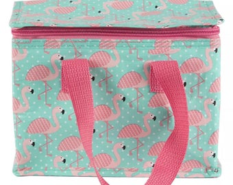 Tropical Flamingo Lunch Bag Insulated / Cool Bag / Picnics / School lunchbox