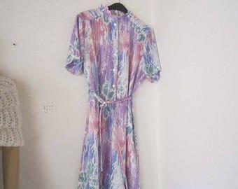 Vintage 60s dress dress pastel summer dress L