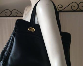 Vintage bag in black/ leather handbag