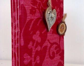 Heart, red, book journal, handmade, travel, memories book, scrapbook