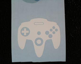 N64 retro controller Decal Any Size Any Colors
