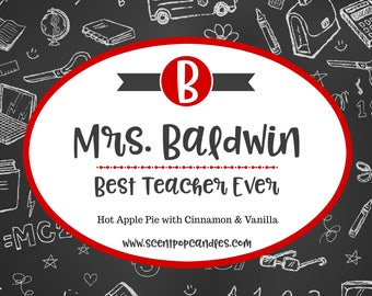 Personalized Teacher Gift, Soy Candle