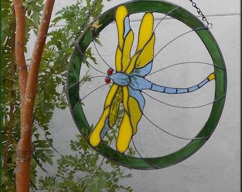 Dragonfly Hanging Yard Art