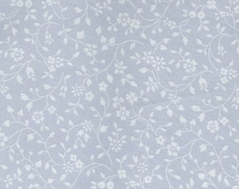 Sale Light Gray Floral Vine Cotton Fabric from the Flower Sugar Wind Spring 2017 Collection by Lecien Fabrics